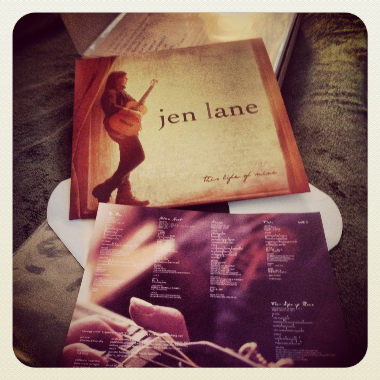 Jen Lane vinyl photo